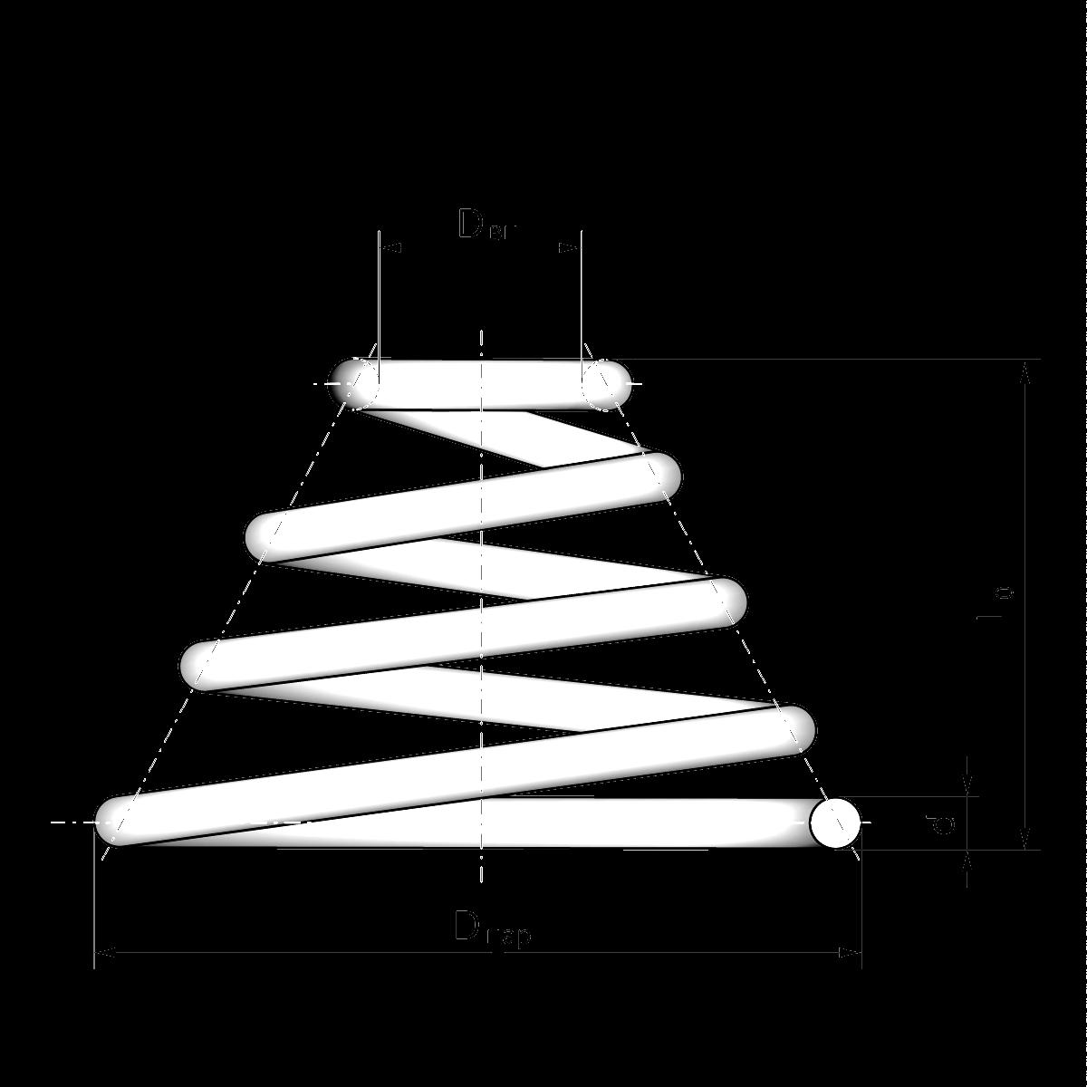 Пружина сжатия чертеж